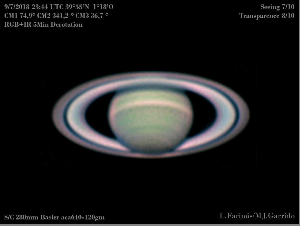 Astrofotografía Saturno 2018 AstroEmocionate