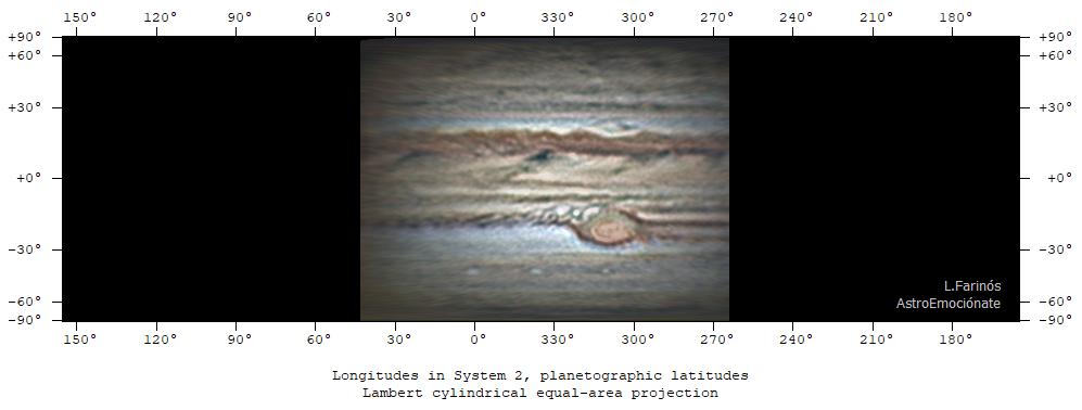 map computation planetographic