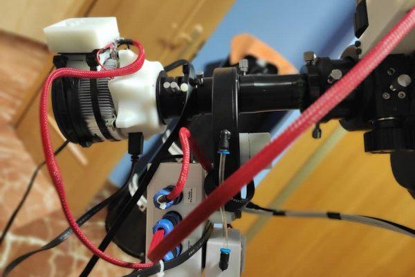 automatizacion equipo de astrofotografía planetaria