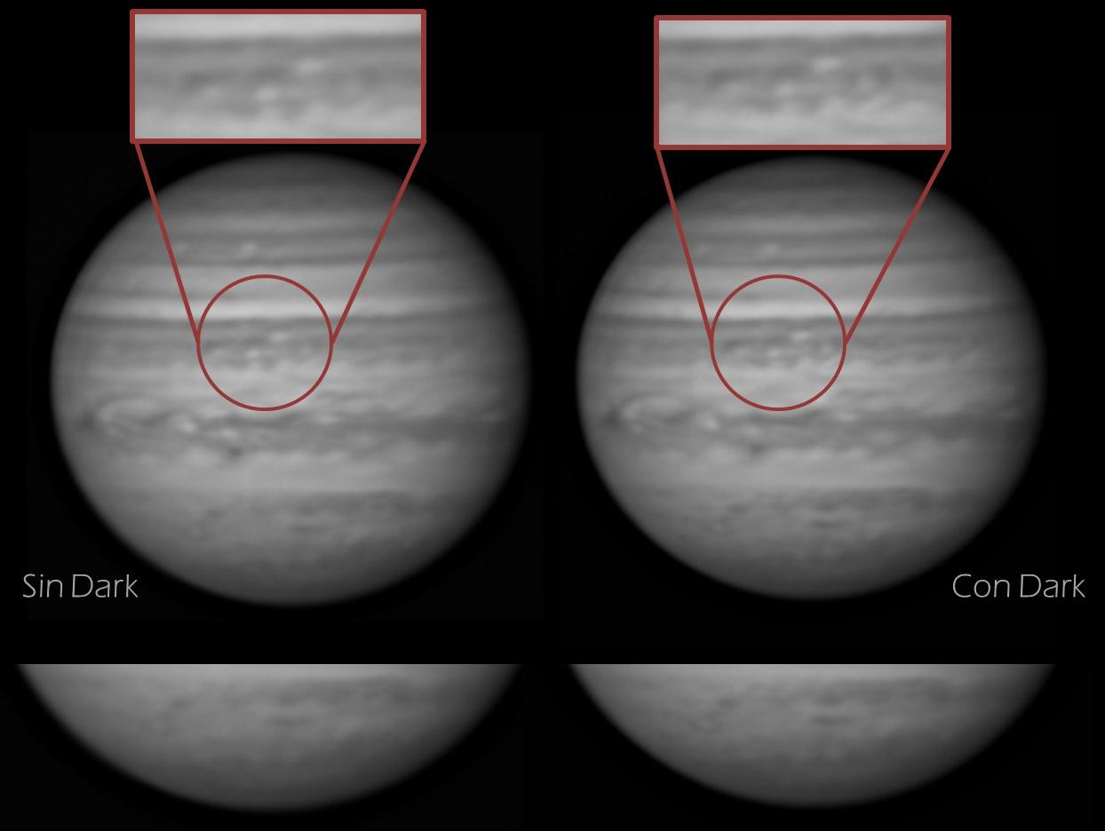 dark en astrofotografia planetaria