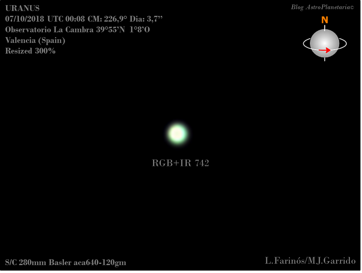 astrofotografia planetaria urano