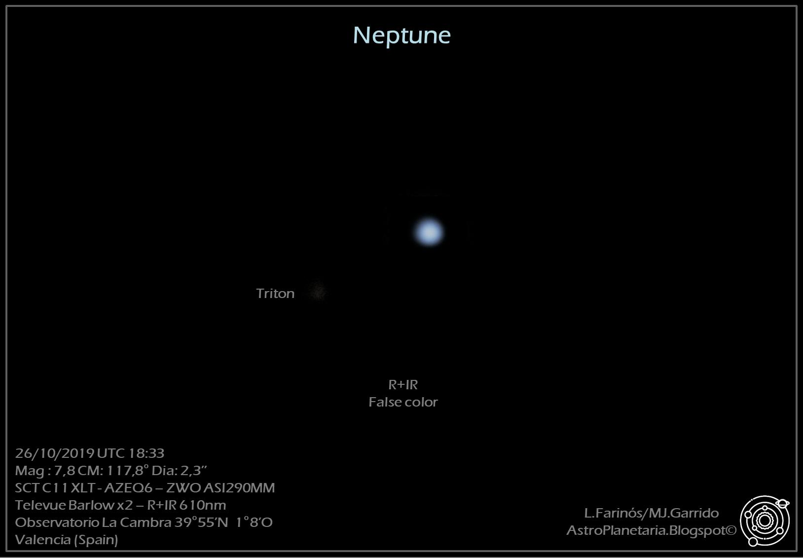 astrofotografia planetaria neptuno