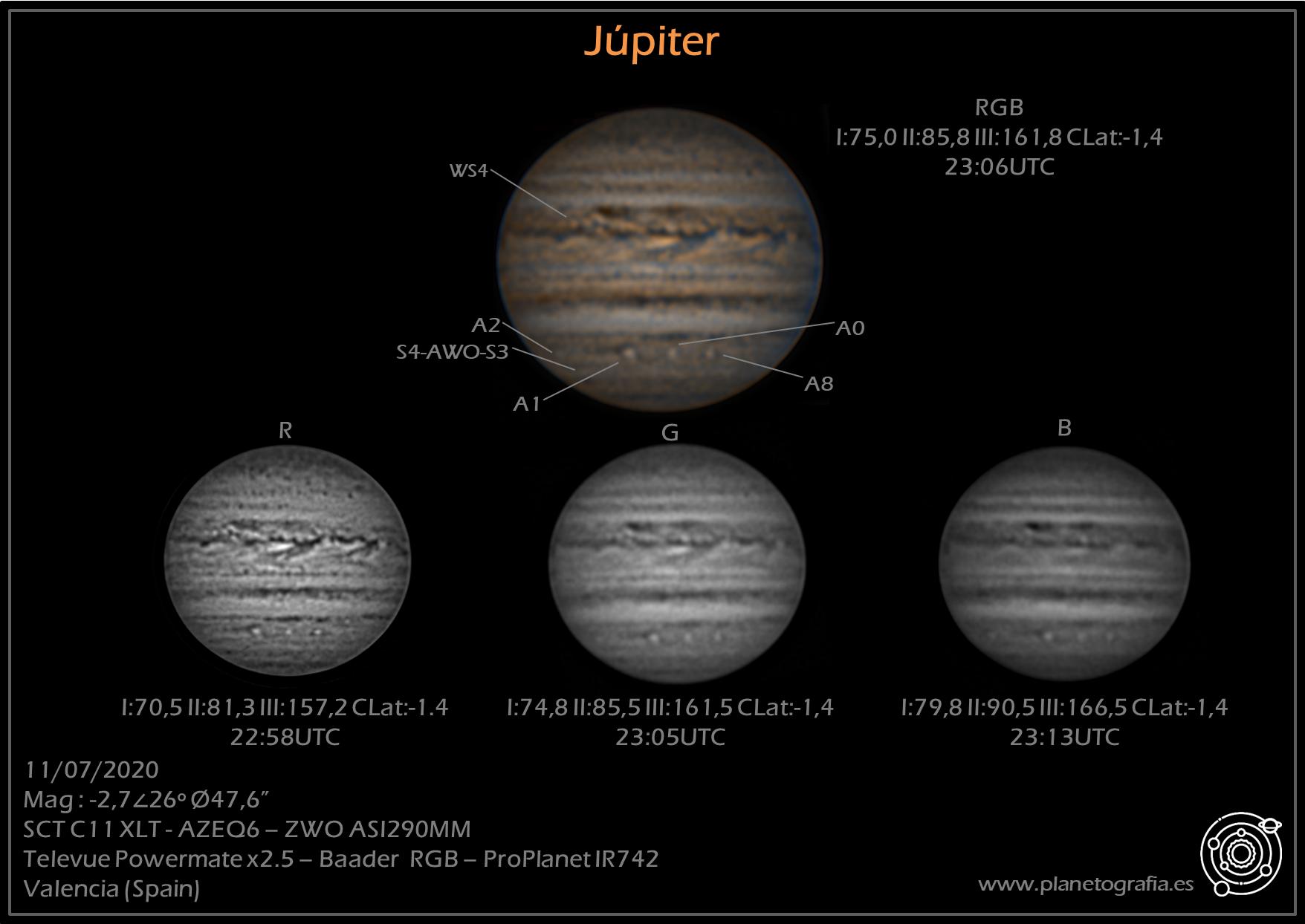 astrofotografia planetaria jupiter