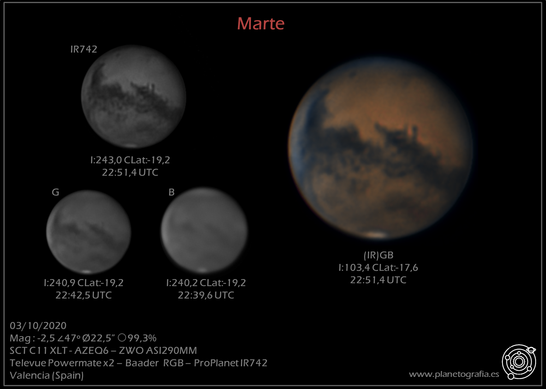astrofotografia planetaria marte