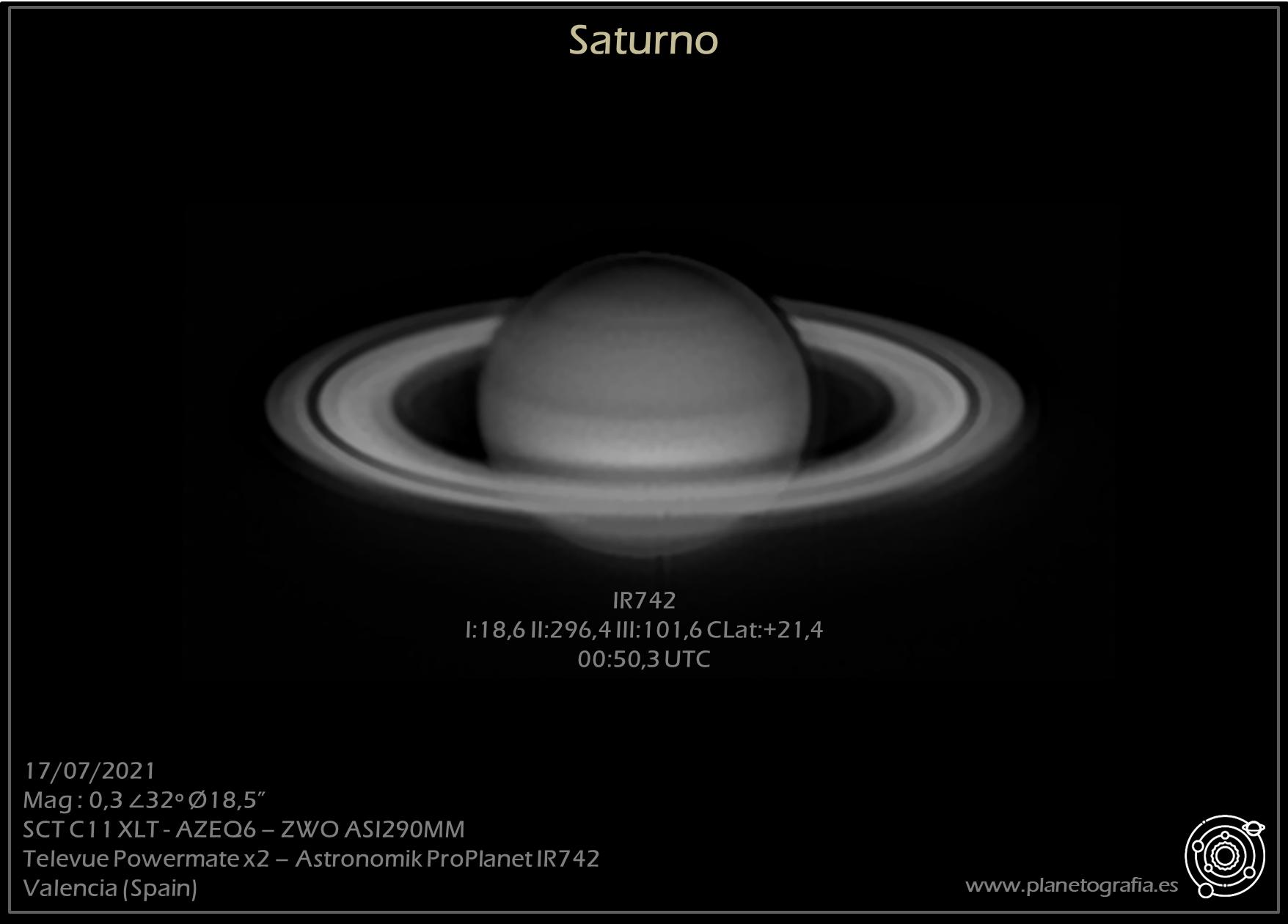 astrofografia planetaria saturno